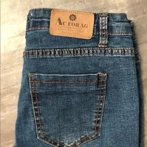 Ag Adriano Goldschmied Jeans - AC For AG Fray Hem Flare Leg Jeans size 28